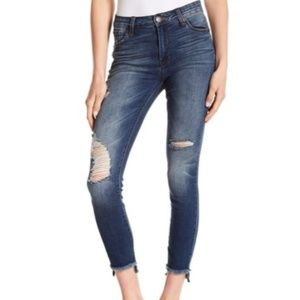 STS Ellie High Rise Destroyed Step Hem Skinny Jean